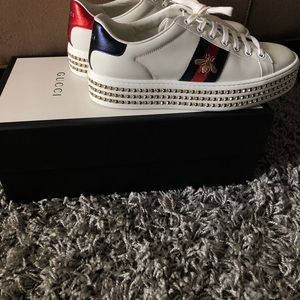 Authentic Gucci Tennis Shoes w/Swarovski Crystals